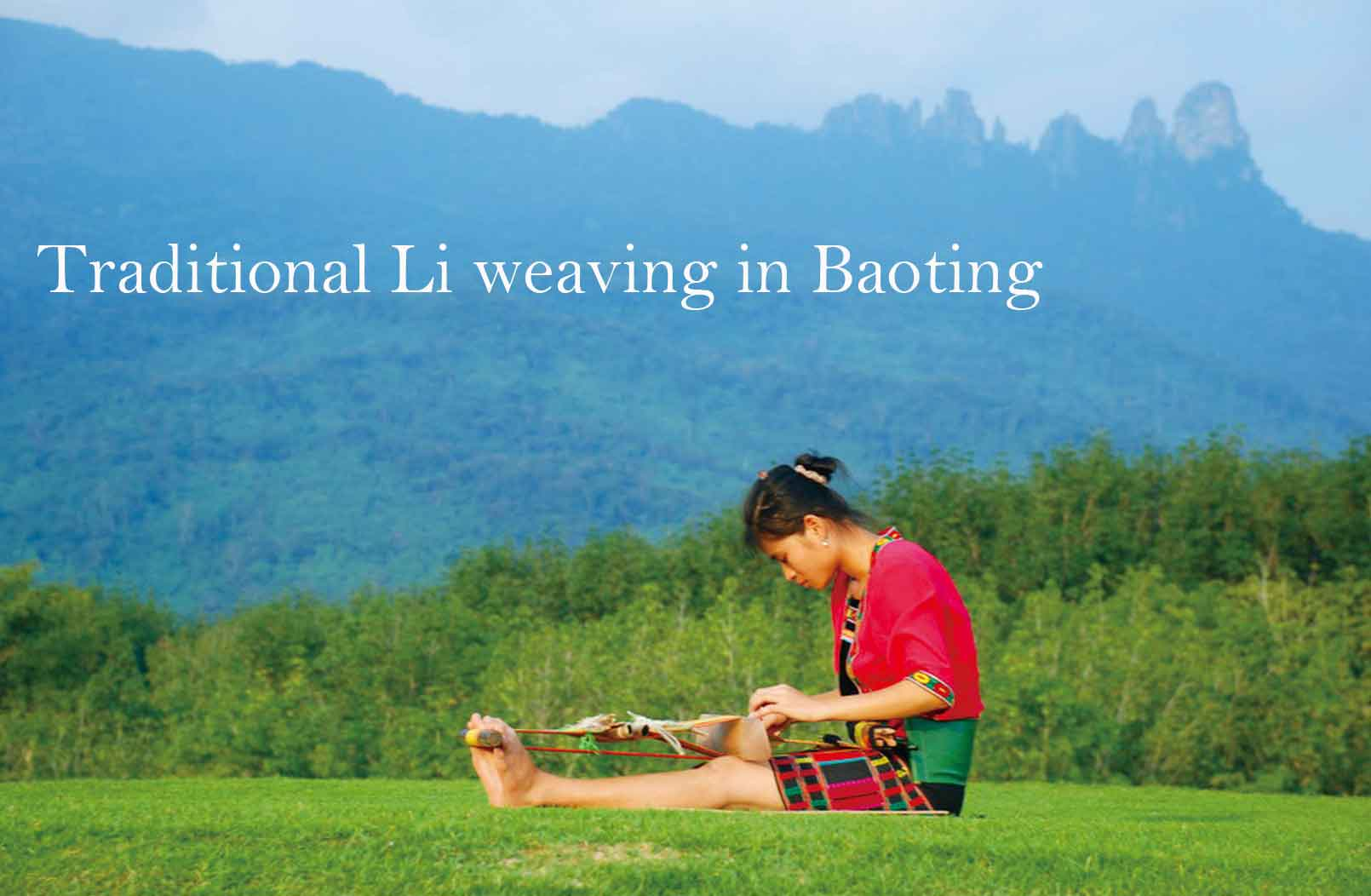 Traditional Li weaving at Baoting