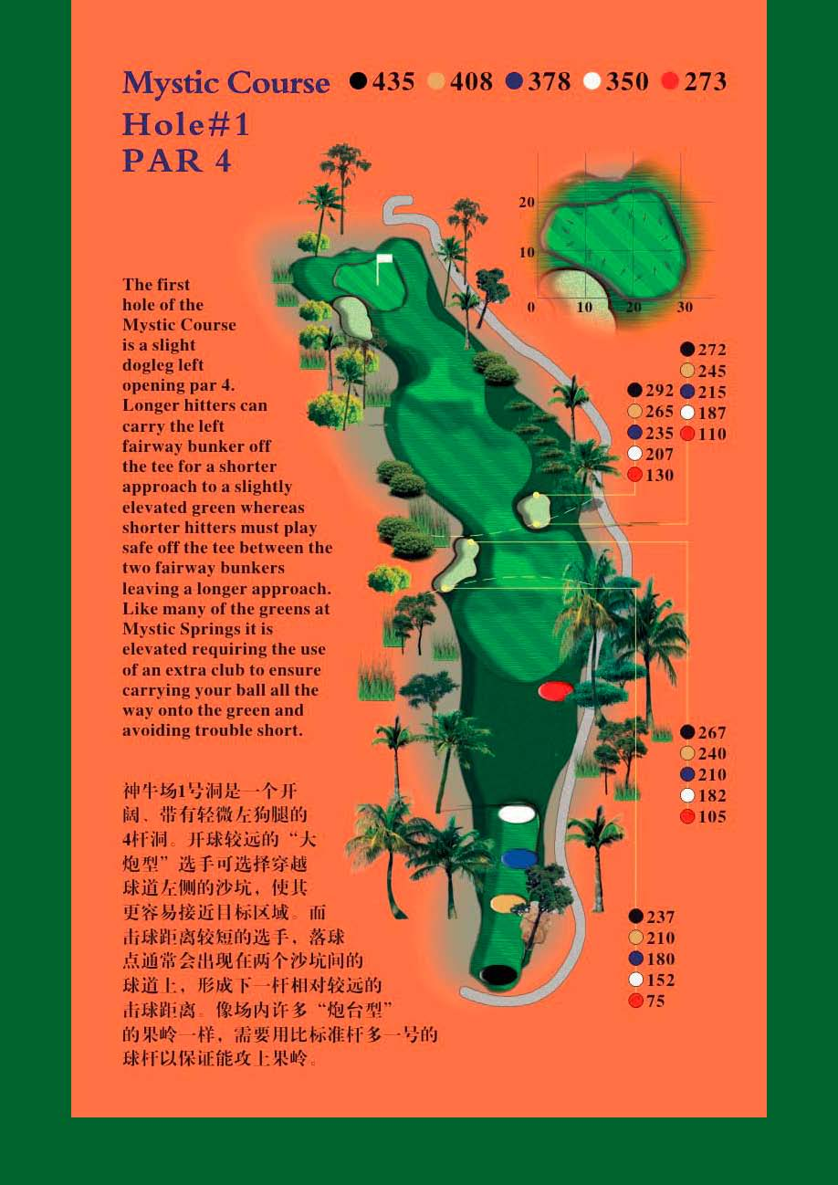Golf at Mystic Springs, Hainan