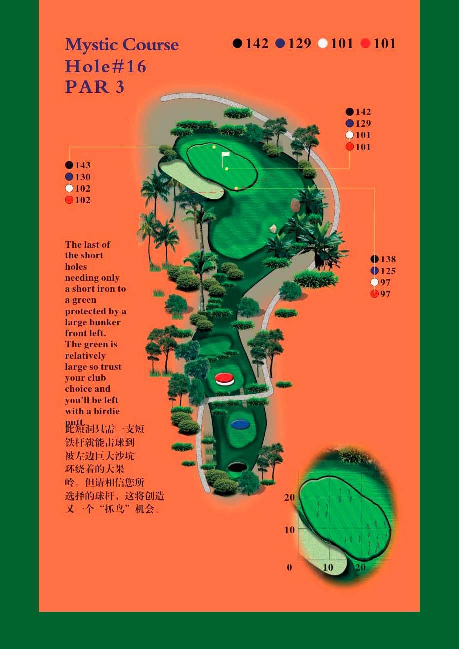 Golf at Mystic Springs, Hainan