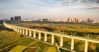 Hainan's high speed train