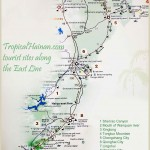 Hainan tourist attractions along the East line