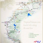 Hainan tourist attractions along the West line