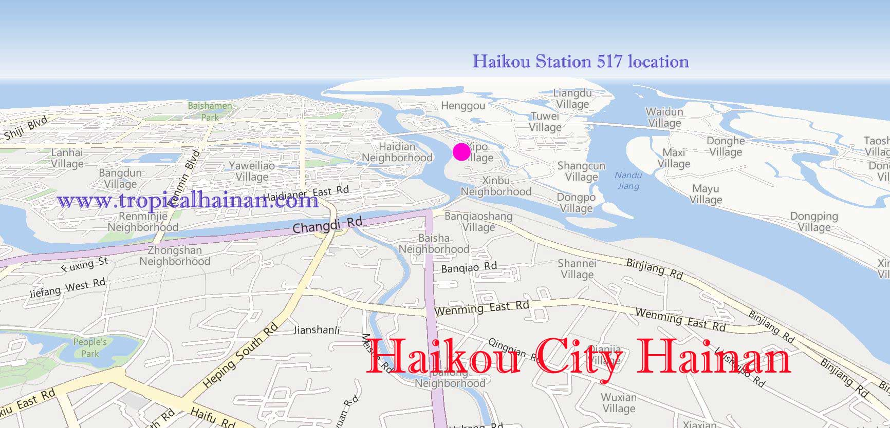 Haikou Station 517 location