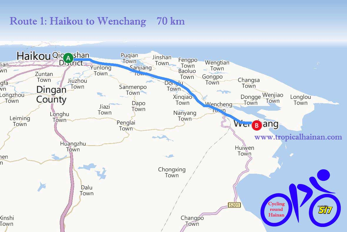 Cycling routes in Hainan