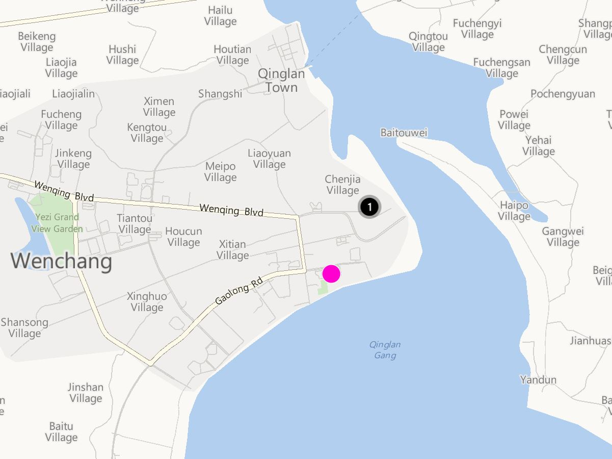 Wenchang Station 517 Location