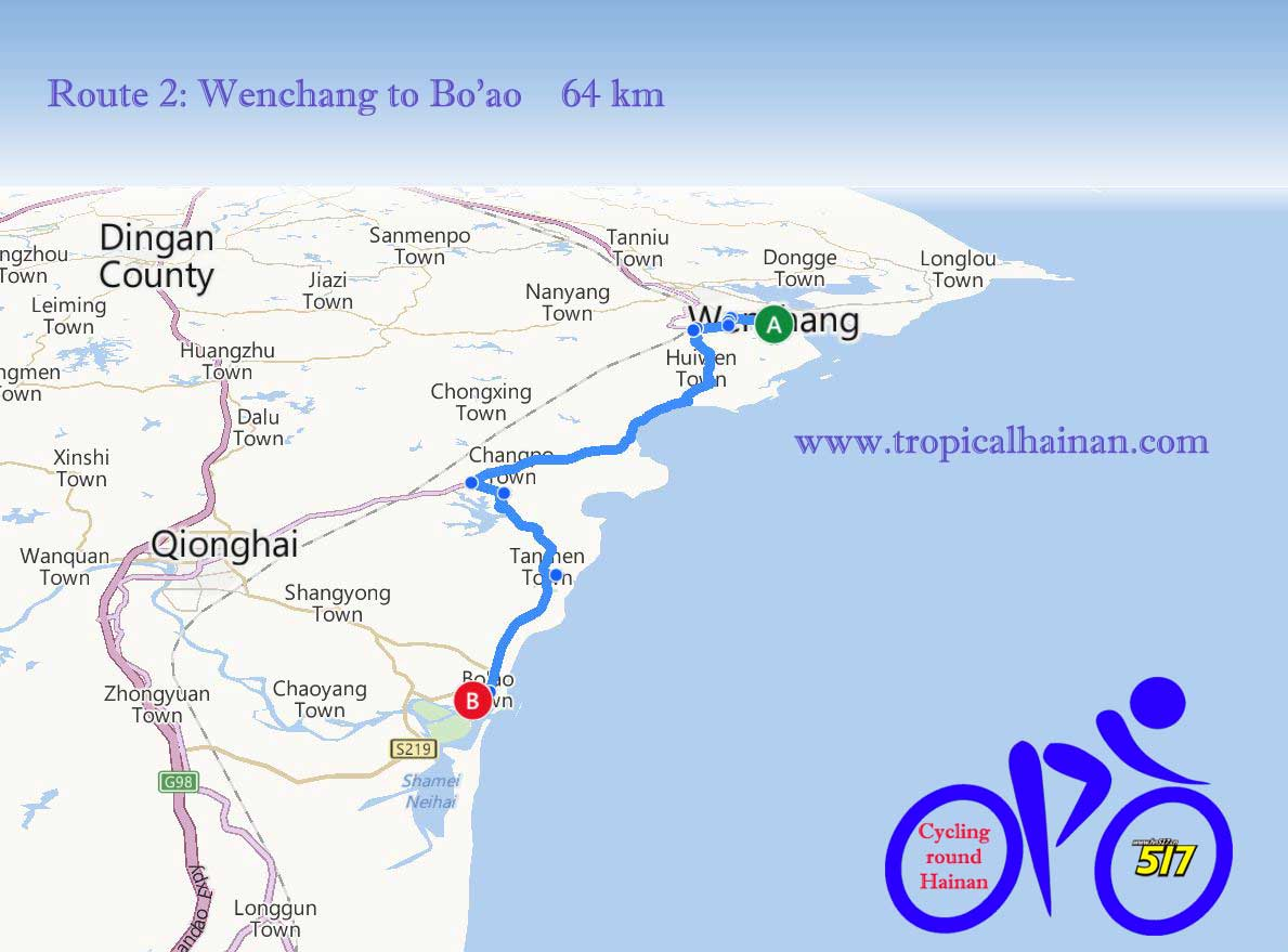 Cycling from Wenchang to Bo'ao