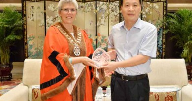 party secretary of Haikou Sun Xinyang meets with the mayor of Whangarei, New Zealand