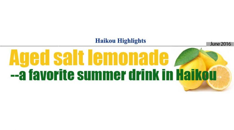 Haikou Highlights: Aged Salt Lemonade