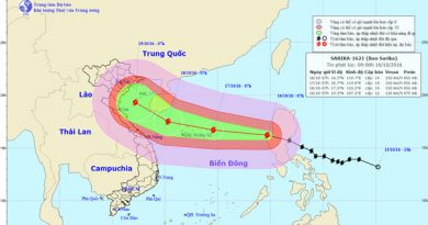 Typhoon Sarika halts classes in south China
