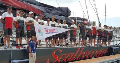 """Share PrintEmail Lee Seng-huang's 100 foot Super Maxi """"Scallywag"""" smashes previous Hong Kong to Hainan Race record on Friday"""