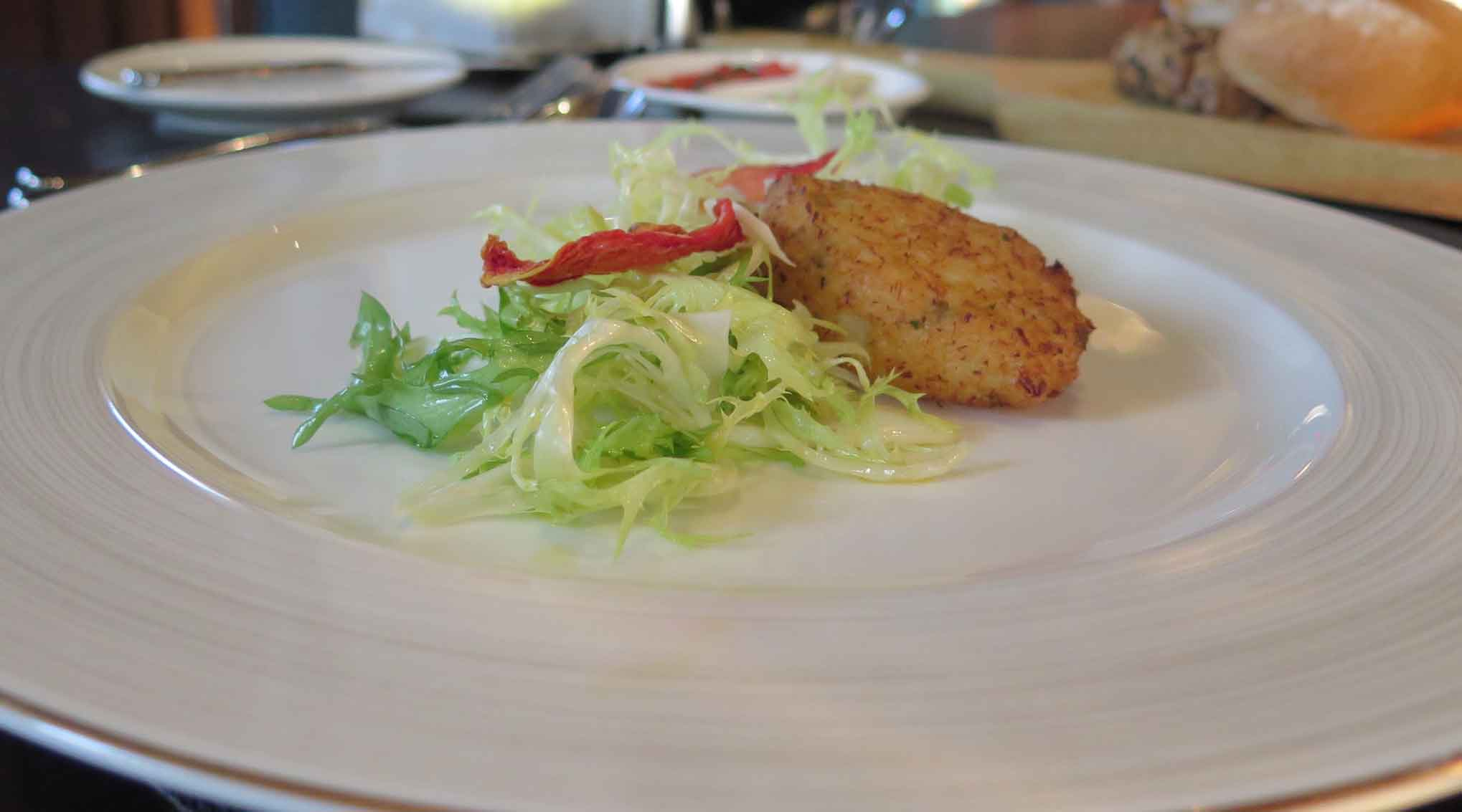 Cod-Fritter-with-Escarole-Salad