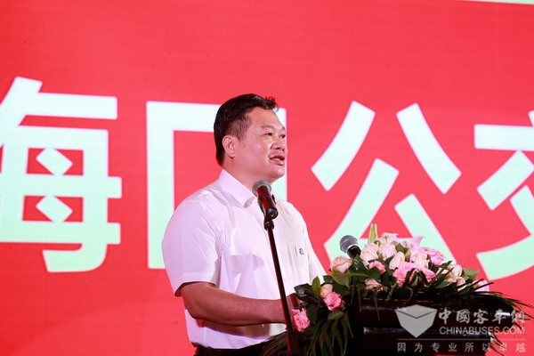 Wang Yanxiong, president of Haikou Public Transport Group