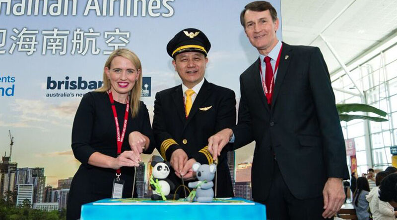 flights between Hainan, China and Brisbane