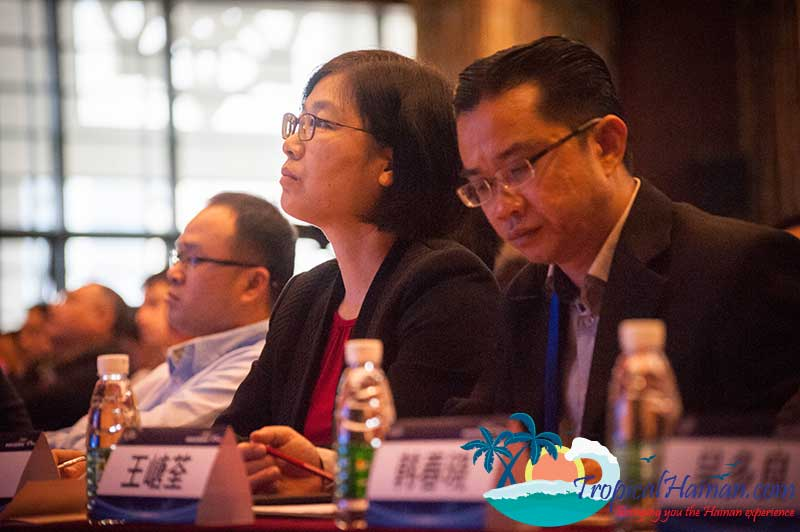 Dec 23rd, The 2017 Hainan Island Overseas Business Elite Summit was held in the new HNA Building in Guoxing Avenue, Haikou