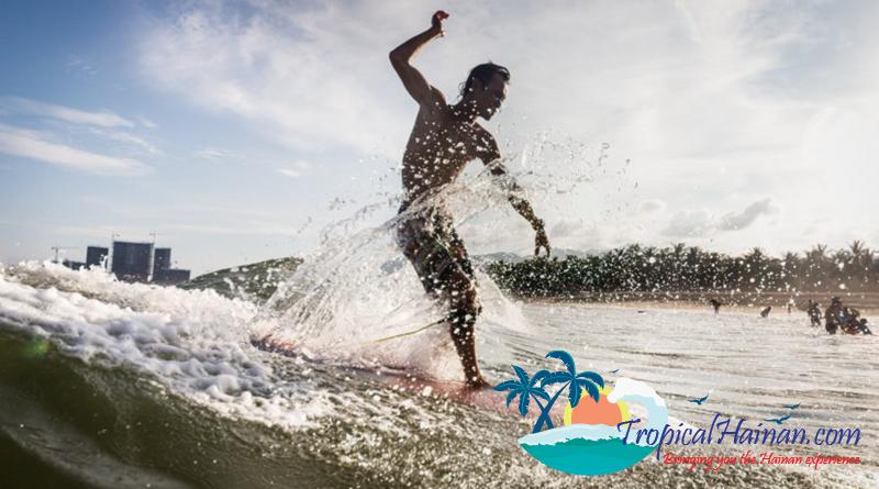 Surfing Ri Yue Bay Hainan