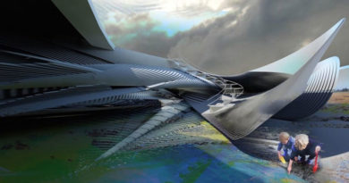 Futuristic energy-positive hotel designed for Yalong Bay to harness power from the tides