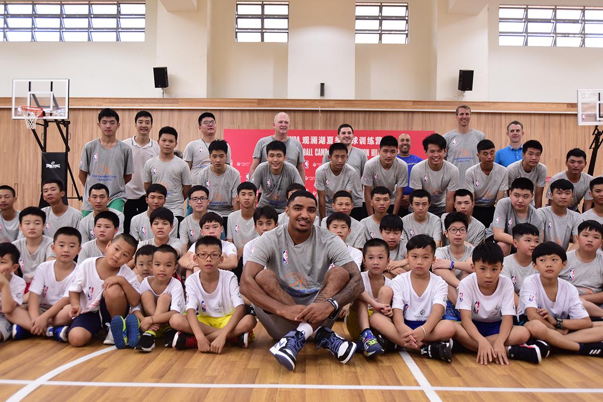 NBA STAR GARY HARRIS THRILLS LOCAL KIDS AT BASKETBALL CAMP IN HAINAN, CHINA 2