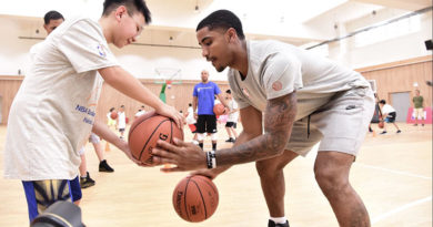 NBA star Gary Harris thrills local kids at basketball camp in Haikou