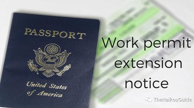 Applications for extending work permits for foreigners in China must be submitted 30 days before expiration.