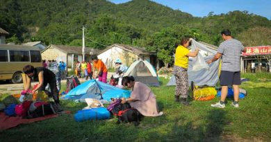 Camping in Jian feng Ling National Forest Park
