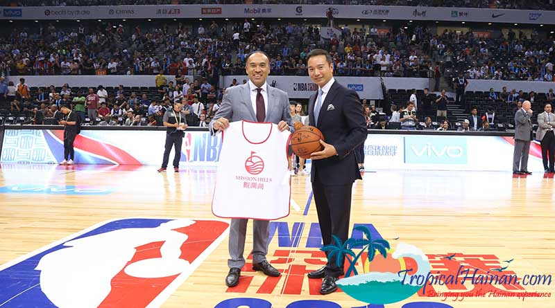 NBA China announces NBA's first permanent exhibition in Hainan.