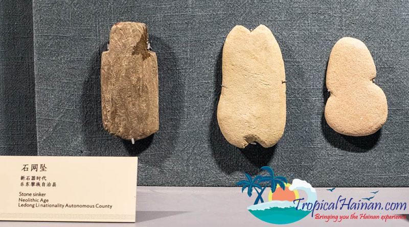 Neolithic stone sinkers Hainan