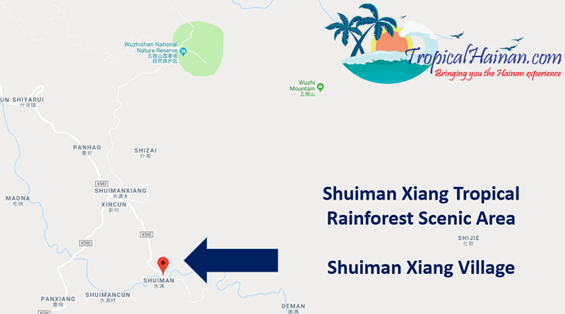 Shuiman-Shang-tropical-rainforest-Scenic-area-location
