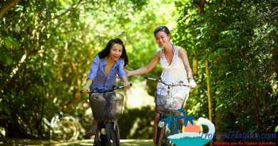 Discovering the Haikou countryside by bicycle on Hainan Island