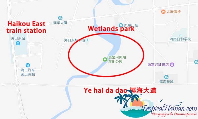 Discover-the-Meishe-Wetlands-Park-Haikou-location
