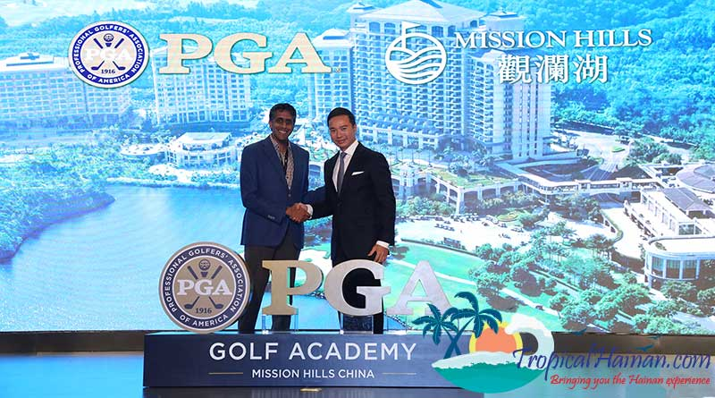 The PGA of America has announced a multiyear partnership with China's Mission Hills Group