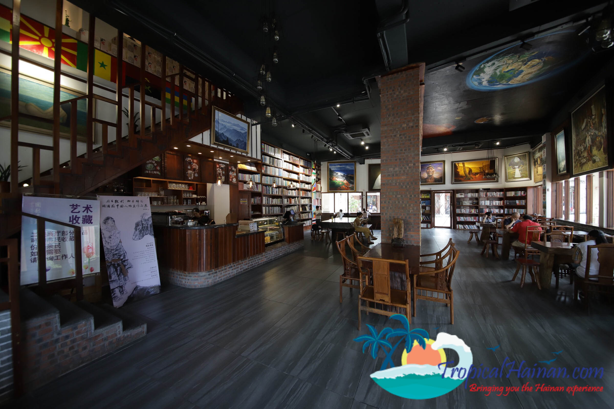 Qilou Coffee shop art gallery and book store Haikou Hainan Island China (2 of 9)