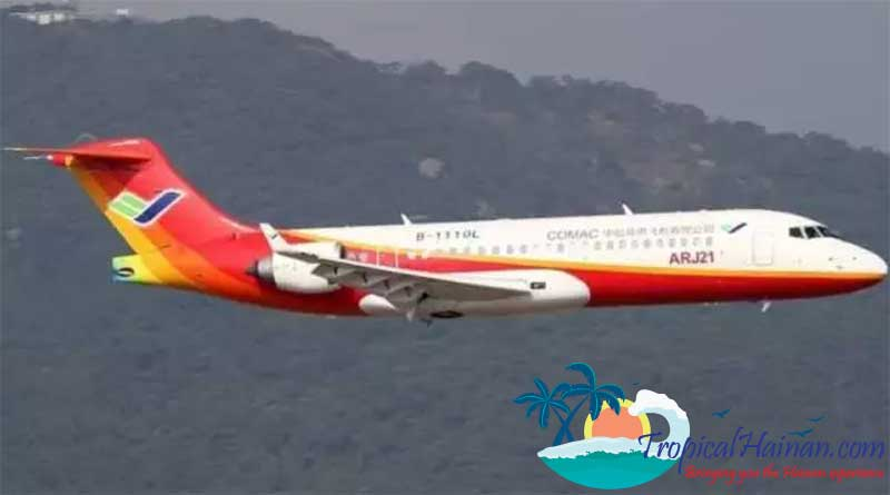 China's-first-domestically-made-regional-jetliner,-the-ARJ21-700,-has-completed-its-first-manned-overwater-demonstration-flight-in-southern-China's-island-province-of-Hainan-2
