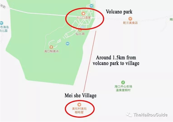 Meishe village location 1