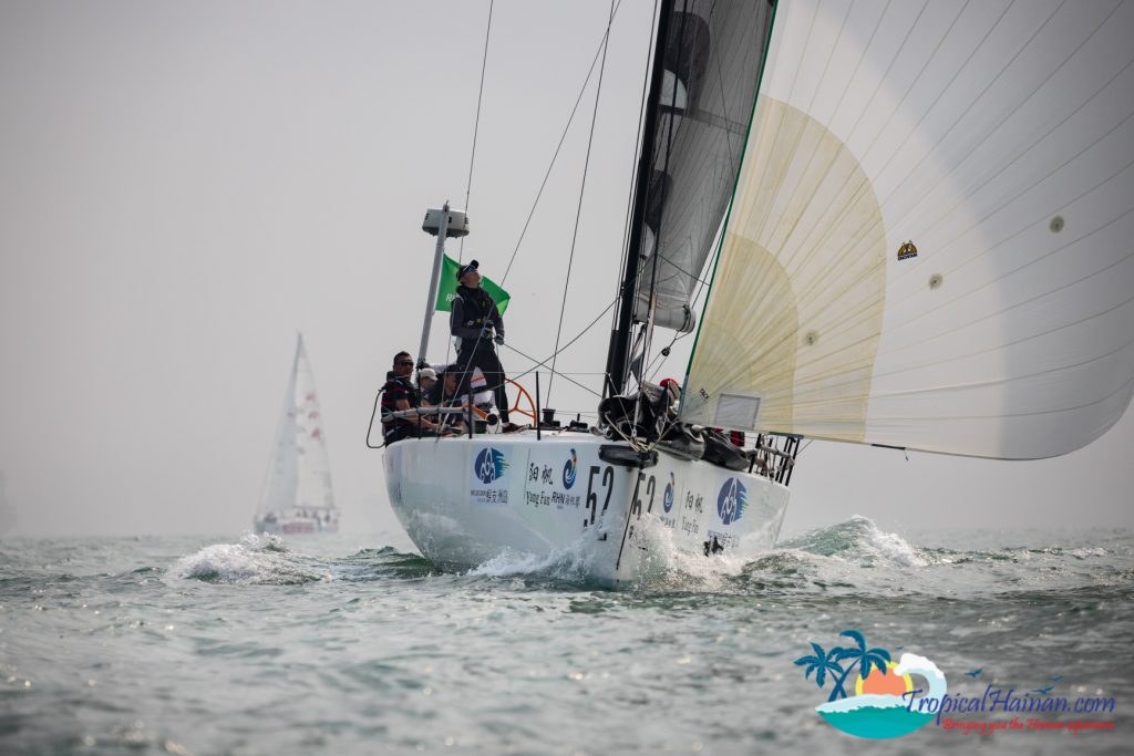 The 2019 Wuzhizhou Island Cup, the 10th International yacht race around Hainan Island kicked off this morning at 10 o'clock.