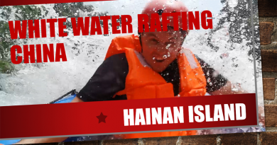 White water rafting China Hainan Island wuzhishan