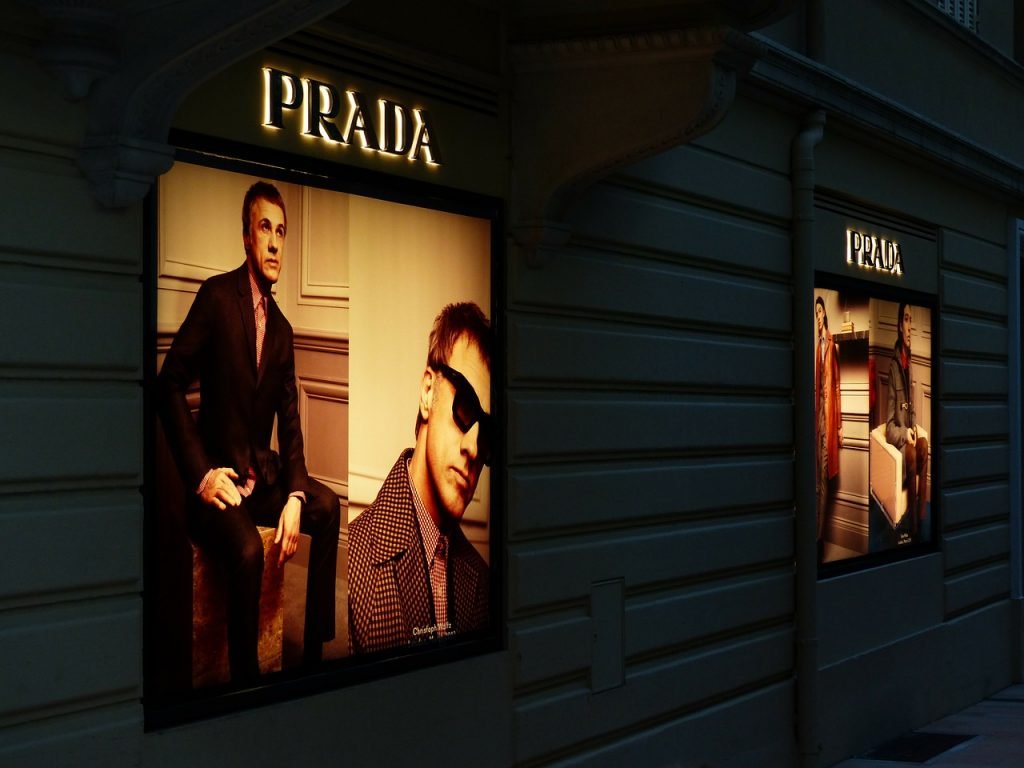 Prada shops in Hong Kong