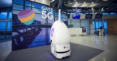 Tellu, the 5G enabled robot at Helsinki airport