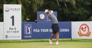 American Max McGreevy is looking to extend his lead on the PGA TOUR Series-China