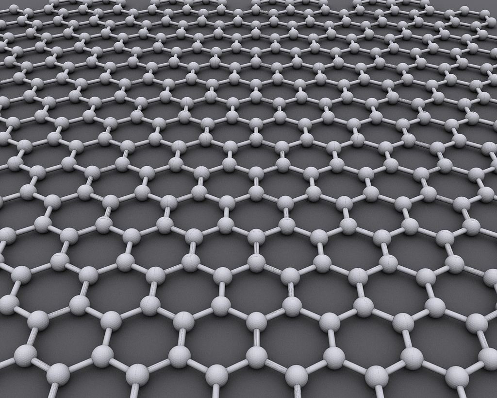 Graphene is a single sheet of carbon atoms, one atom thick