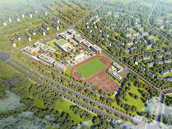 Harrow school Haikou aerial rendering