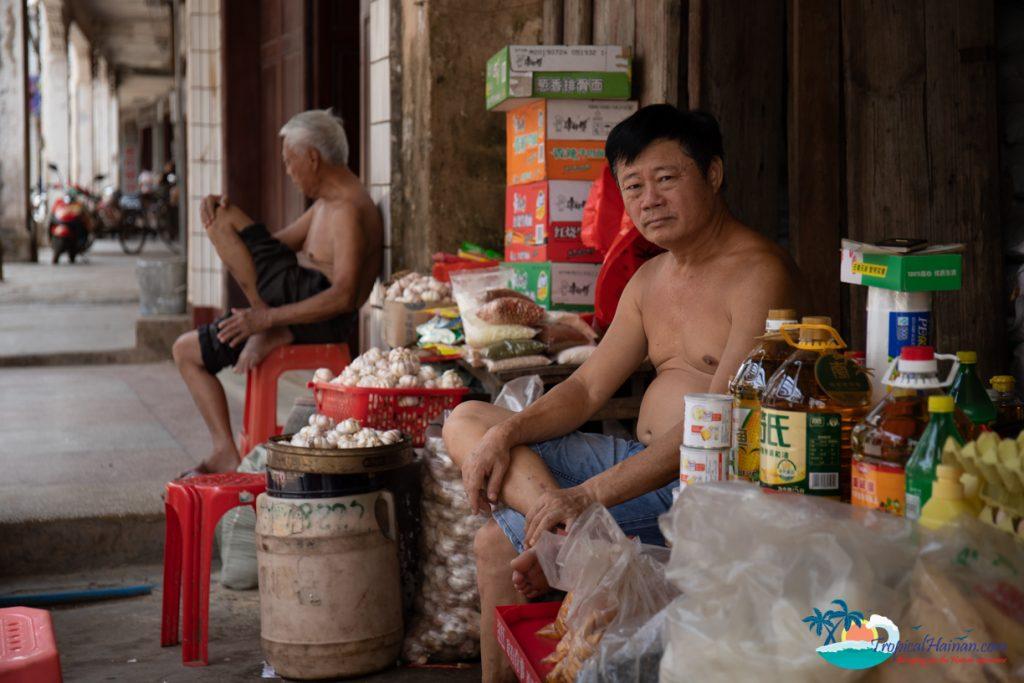 old market town wenchang hainan island