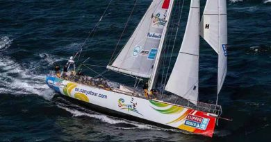 """The """"Sanya"""" sets sail from London for grueling round the world voyage"""
