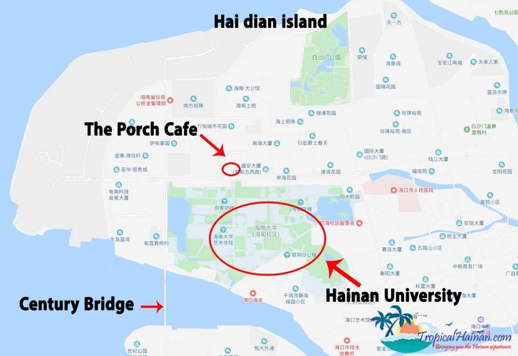 Porch cafe location