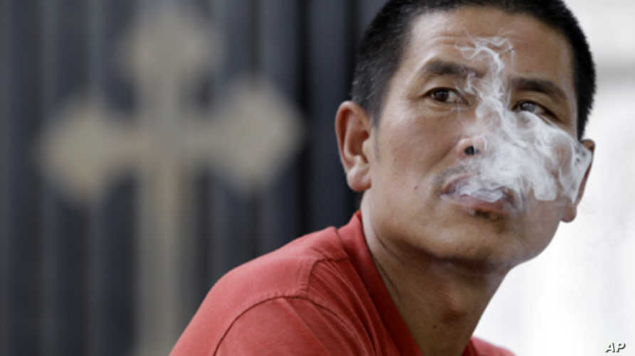 Up to 40 percent of men smoke in China