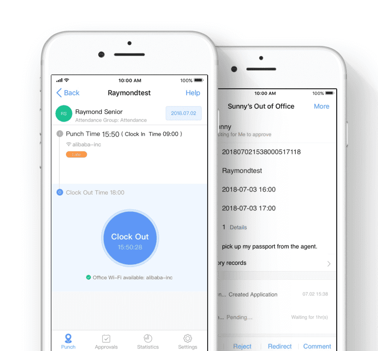 DingTalk, a work place chat app run by Alibaba
