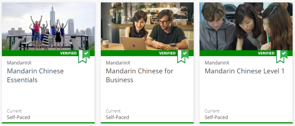 Edx mandarin Chinese courses