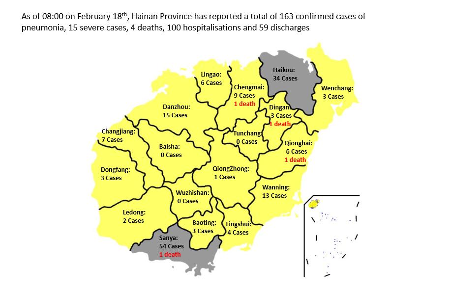Hainan updates as of 0800 18 02 2020