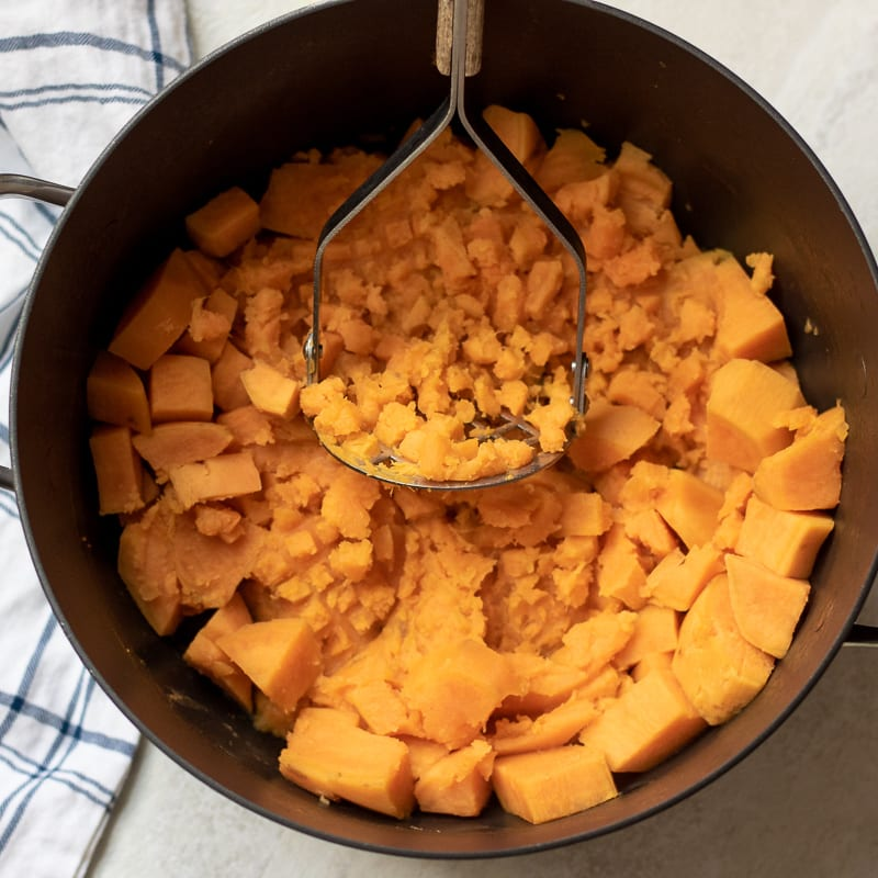 mash sweet potatoes