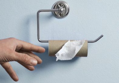 What on earth's going on with the toilet paper