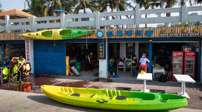 Kayak club Haikou, Hainan island